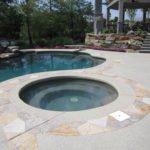 mini swimming pool neutral color concrete