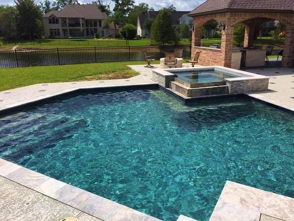 Decorative Concrete Pool Deck Houston 2