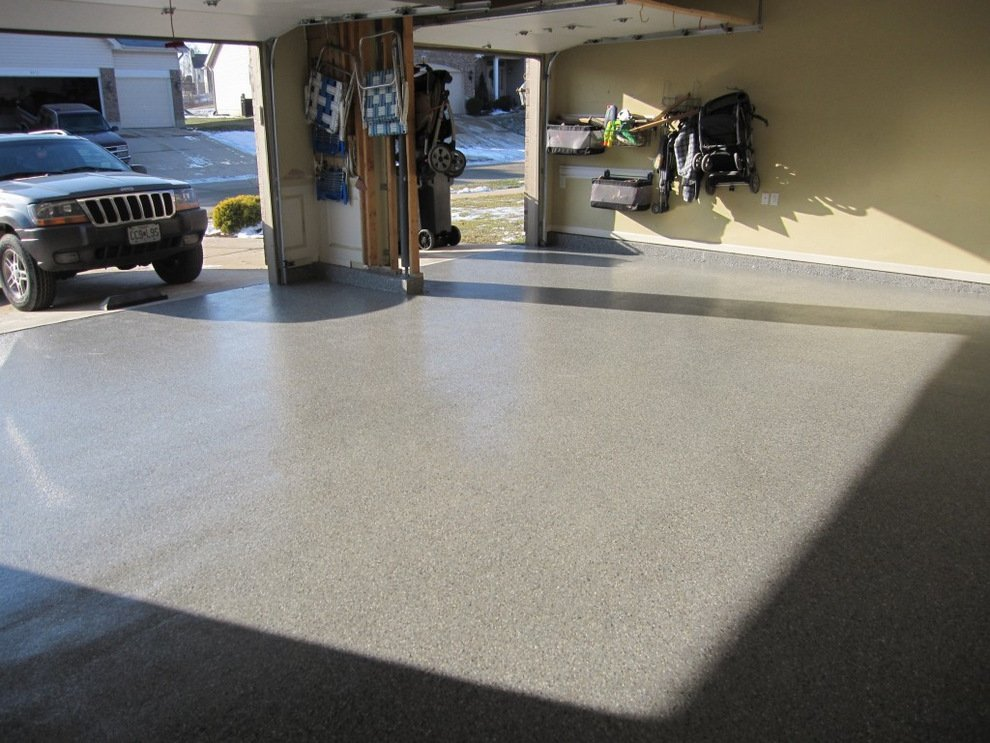 Garage floor houston decorative concrete houston for Two floor garage