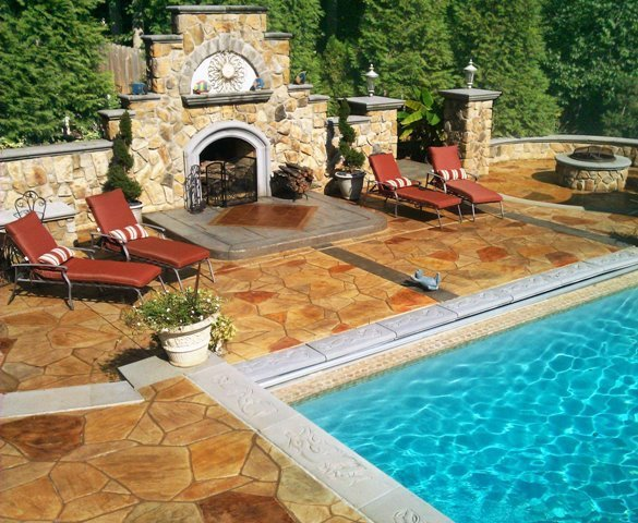 Stamped Concrete Pool Deck Houston Decorative Concrete