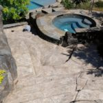 stamped concrete pool deck houston